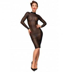 Noir handmade F182 Klasyczna sukienka z tiulu L (czarny)