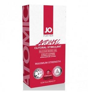 System JO For Her Clitoral Stimulant Warming Atomic 10 ml - żel do stymulacji łechtaczki na bazie silikonu