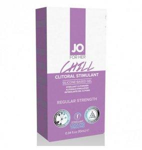 System JO For Her Clitoral Stimulant Cooling Chill 10 ml - lubrykant chłodzący na bazie silikonu dla kobiet