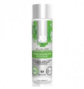 System JO All-in-One Sensual Massage Glide Cucumber 120 ml - silikonowy żel do masażu (świeży ogórek)