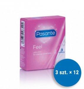 Pasante Feel - Prezerwatywy ultracienkie (12op./3szt)