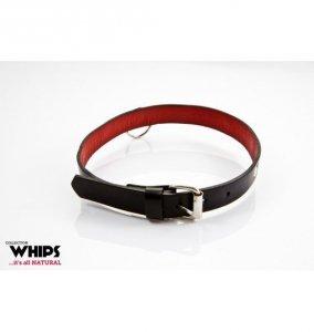 Whips Obroża damska, wąska (czarno - czerowna)