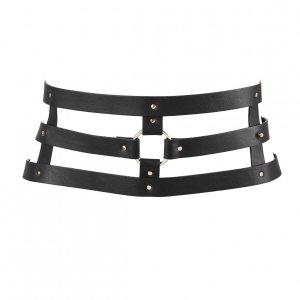 Bijoux Indiscrets MAZE Wide Belt - pas skóropodobny (czarny)