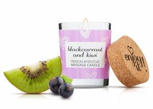 MAGNETIFICO ENJOY IT! Blackcurrant&Kiwi - aromatyczna świeczka do masażu (czarna pożeczka i kiwi)