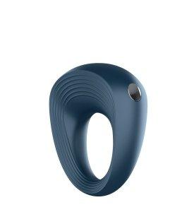 SATISFYER VIBRATING RING 2 - erekcyjny pierścień wibrujący (granatowy)