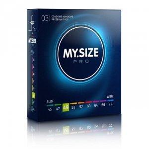 MY.SIZE Pro 49 mm - Prezerwatywy (1op./3szt.)