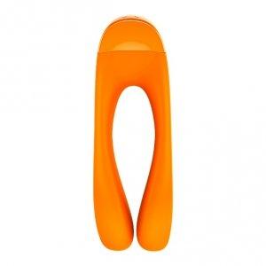 Satisfyer Candy Cane - wibrator na palec (pomarańczowy)