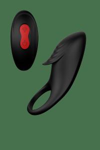 Dream Toys Rings Of Love Remote Cockring black - wibrujący pierścień na penisa