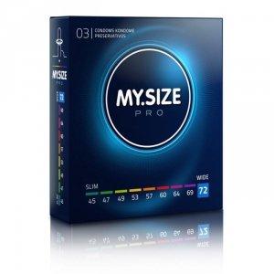 MY.SIZE Pro 72 mm - Prezerwatywy (1op./3szt.)
