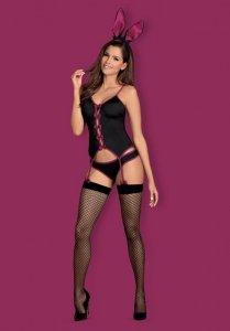 Bunny suit kostium czarny L/XL