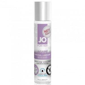 System JO For Her Agape Lubricant Cool 30 ml - chłodzący lubrykant na bazie wody dla kobiet