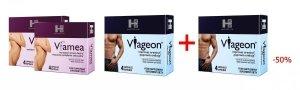 Zestaw na gorące noce dla Niej i dla Niego: 2x Viamea, 1x Viageon, Viageon za 50%