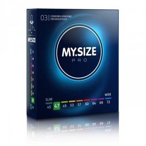 MY.SIZE Pro 47 mm - Prezerwatywy (1op./3szt.)