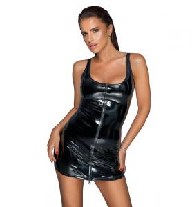 Noir handmade F232 PVC Sukienka z dwukierunkowym zamkiem M (czarny)