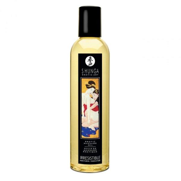 Shunga Irresistible Massage Oil 250 ml - olejek do masażu pobudzający zmysły