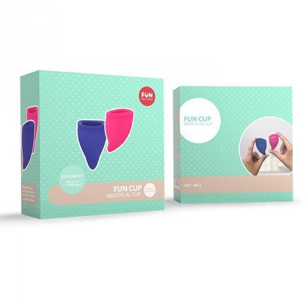 Kubeczek menstruacyjny FUN CUP Fun Factory mix, 1x rozmiar A + 1x rozmiar B