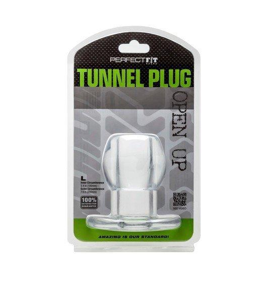 Tunel analny Perfect Fit - Ass Tunnel Plug rozmiar L (przeźroczysty)
