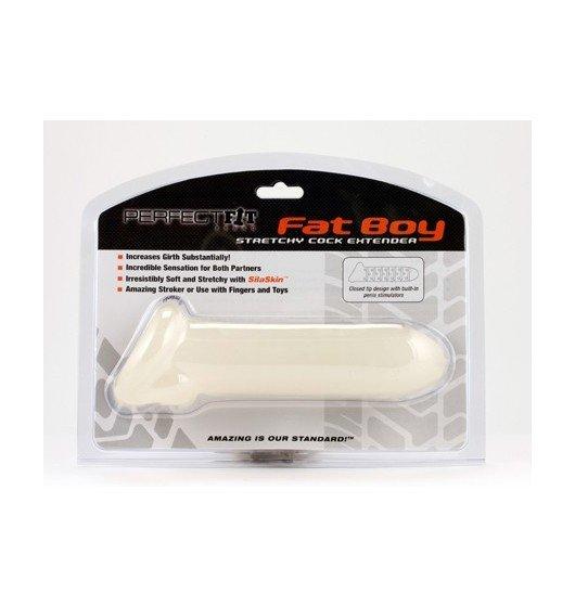 Nakładka na penisa Perfect Fit - Fat Boy Extender 20.5 cm (biały)