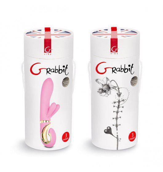 Gvibe Grabbit - Wibrator Króliczek (różowy)