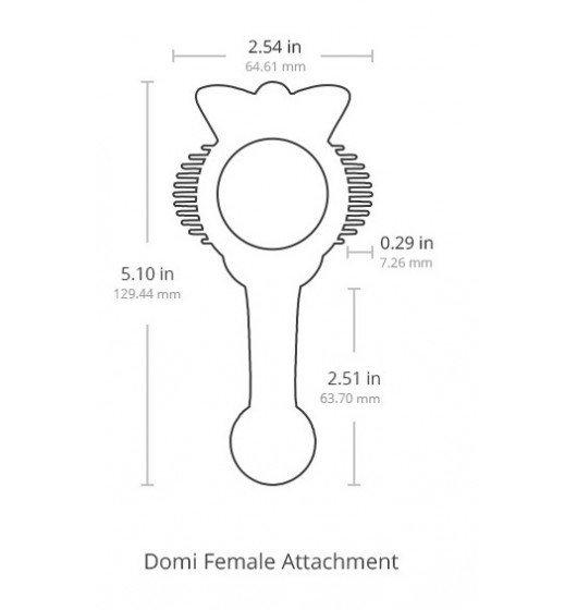 Lovense Domi Female Attachment nakładka na masażer Lovense Domi