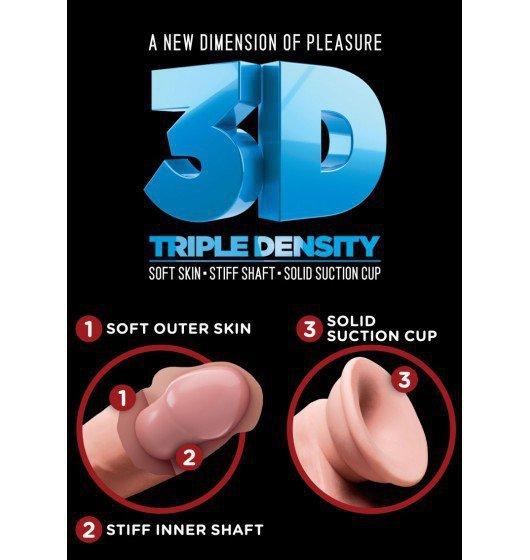 King Cock dildo - Plus 8'' Triple Density Cock with Balls sztuczny penis (cielisty)