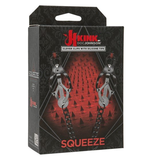 Kink by Doc Johnson Squeeze - Clover Clips with Silicone Tips