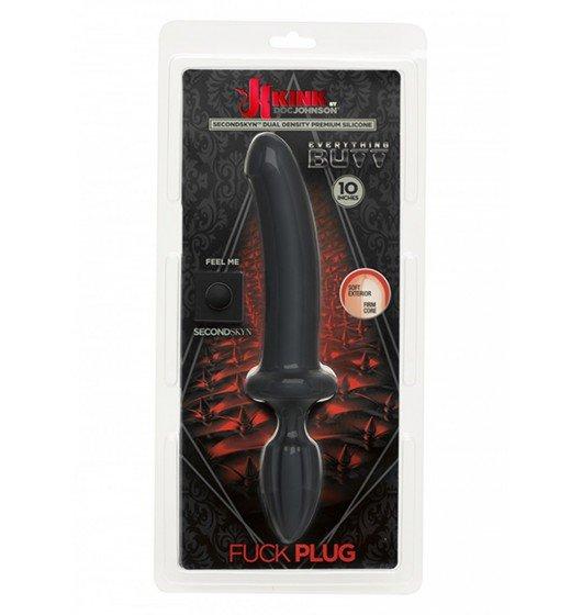 Kink by Doc Johnson czarne dildo analne dla par - Fuck Plug (czarny)