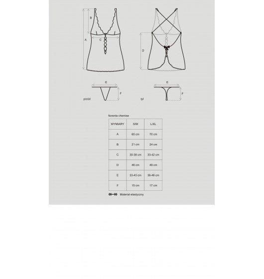 Obsessive Fiorenta koszulka i stringi S/M