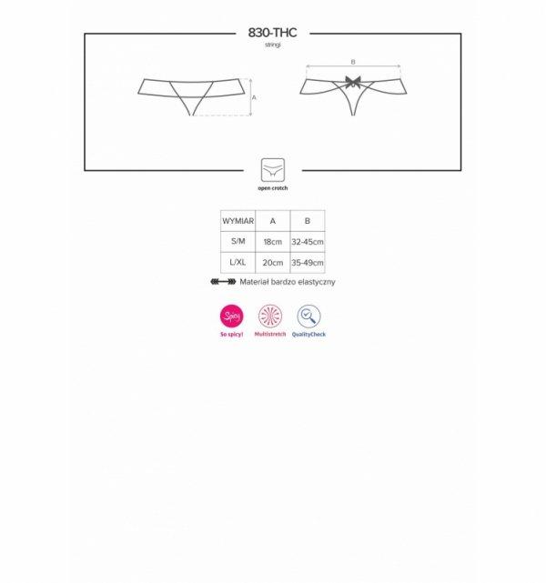 830-THC-1 stringi otwarte czarne S/M