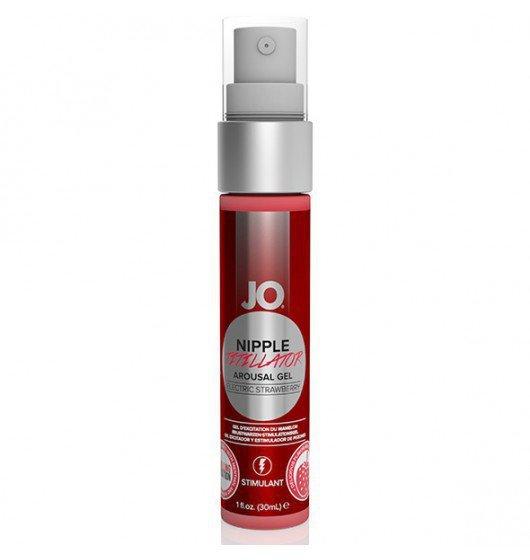 System JO Nipple Titillator Strawberry 30 ml - środek pobudzający na bazie wody do stymulacji sutków