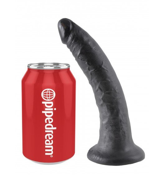 King Cock dildo - 7'' Cock sztuczny penis (czarny)