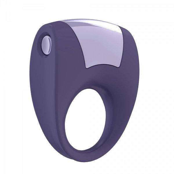 Ovo B8 Ring - erekcyjny pierścień wibrujący (fioletowy)
