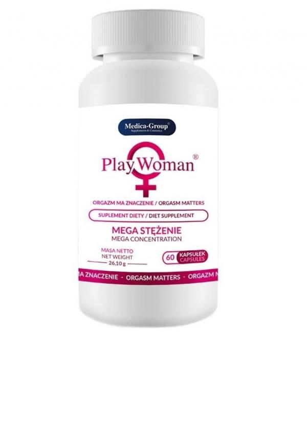 Medica Group PlayWoman - 60 kapsułek (tabletek) poprawiających intensywność orgazmów u kobiet
