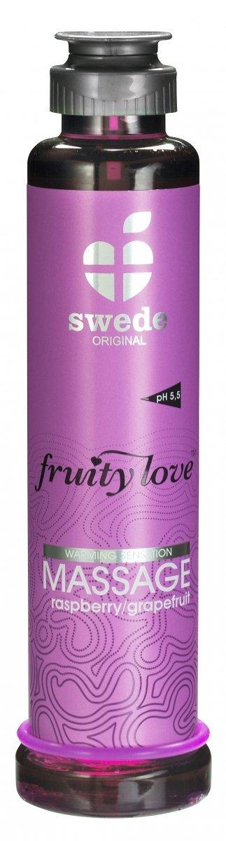 Swede Fruity Love Massage - owocowy żel do masażu 200 ml (malina - grejpfrut)