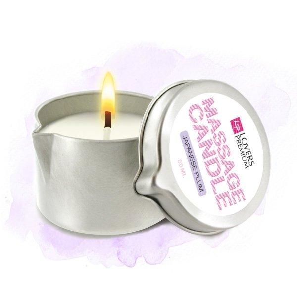 LoversPremium Massage Candle Japanese Plum 50 ml - świeca do masażu (japońska śliwka)