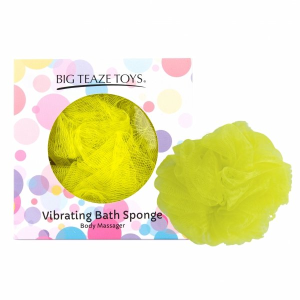 Big Teaze Toys Bath Sponge Vibrating Yellow - wibrująca gąbka do kąpieli (żółta)