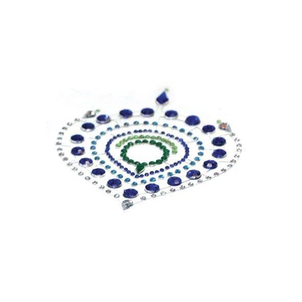 Nakładki na sutki Bijoux Indiscrets - Flamboyant, niebiesko-zielone