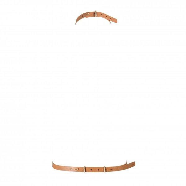 Bijoux Indiscrets MAZE I Harness - uprząż BDSM skóropodobna (brązowa)