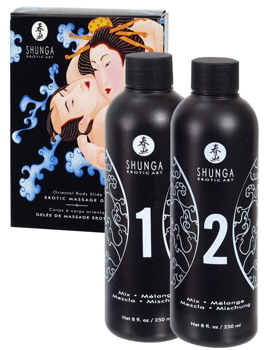 Shunga Massage Gel Strawb and Champag