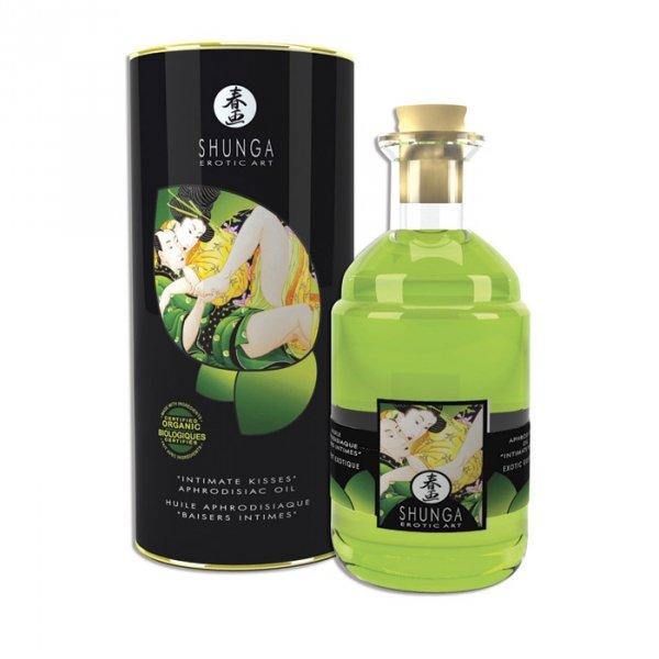 "Shunga ""Intimate Kisses""Aphrodisiac Oil Exotic Green Tea l00 ml"