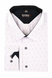 Koszula męska XXL - biała w granatowy wzorek