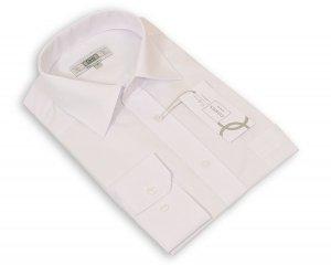 Koszula długi rękaw Slim - biała