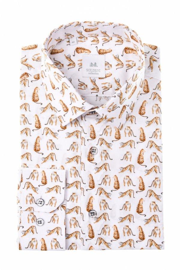 Koszula męska Slim - w tyrgrysy