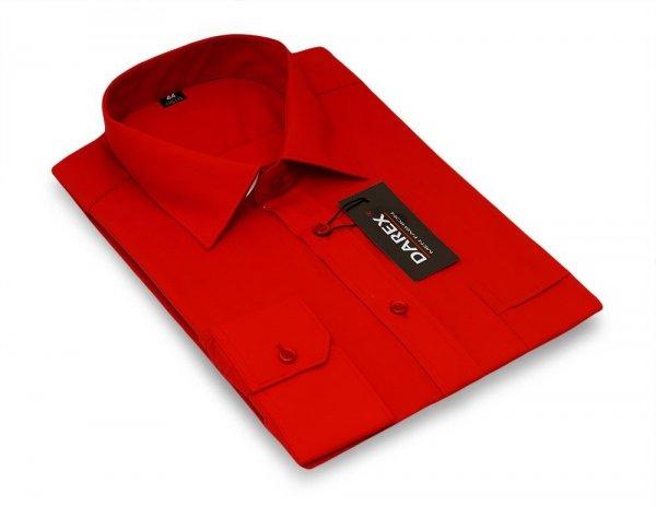 Koszula długi rękaw Slim - czerwona
