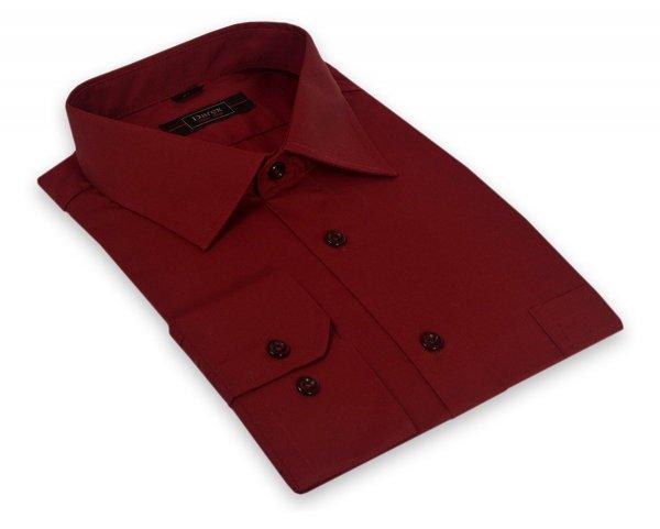 Koszula męska XXL - bordowa
