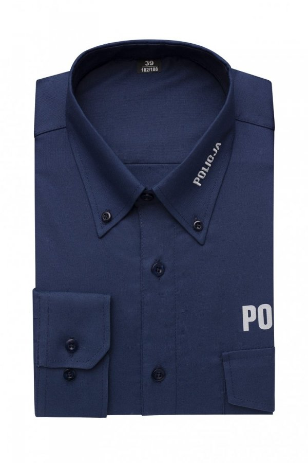 Koszula policyjna granatowa - tkanina typu oxford