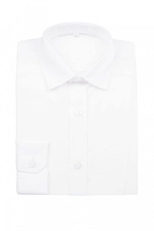 Koszula dziecięco-młodzieżowa slim - biała