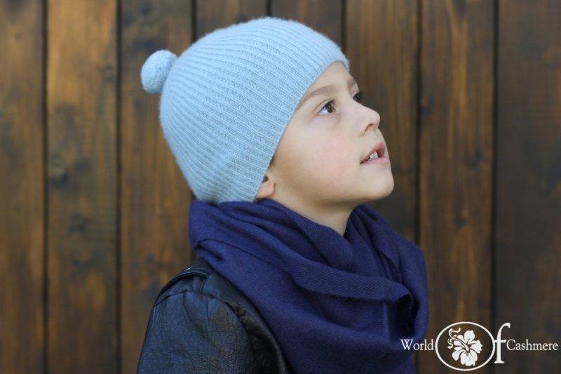 Czapka z pomponem dziecięca (ok. 1-5 lat)