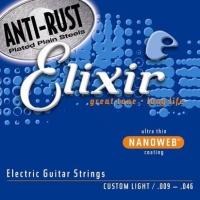 Elixir NanoWeb Custom Light 9-46 Struny do gitary elektrycznej