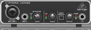 BEHRINGER U-PHORIA UMC22  interfejs audio 2x2 USB
